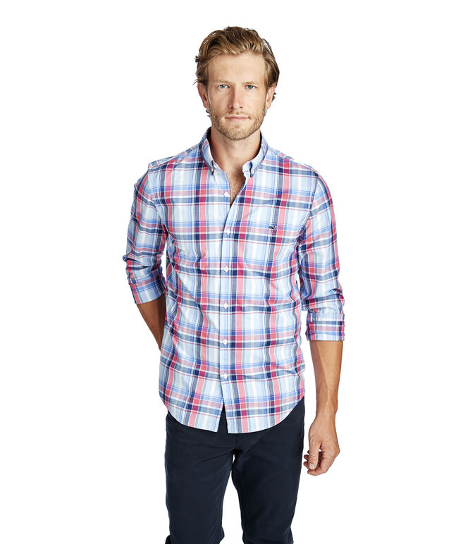 Boathouse Plaid Slim Tucker Shirt