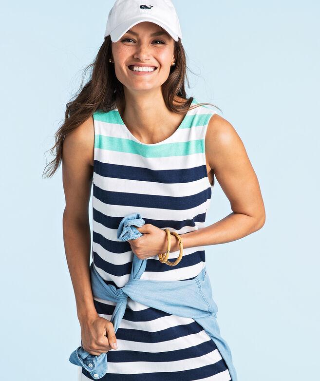 f5baf4dcb7 Shop Combo Stripe Sleeveless Knit Dress at vineyard vines