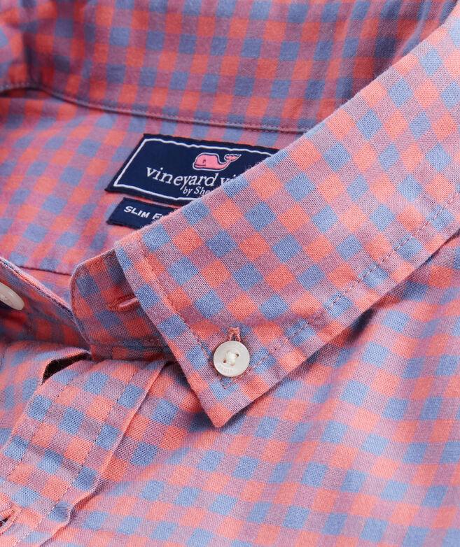 Slim Gingham Madras Tucker Shirt