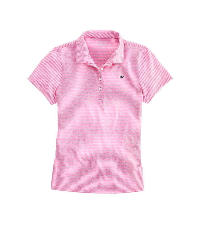 Heathered Stripe Golf Polo