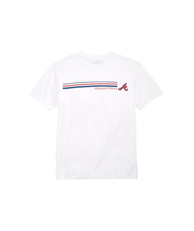 Atlanta Braves 3 Stripe T-Shirt
