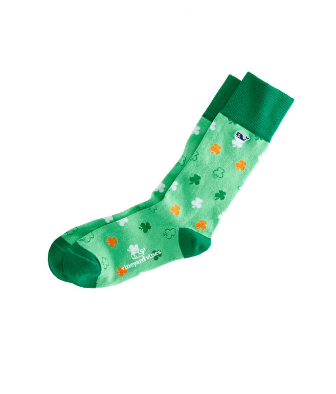 Multi Shamrock Icon Socks