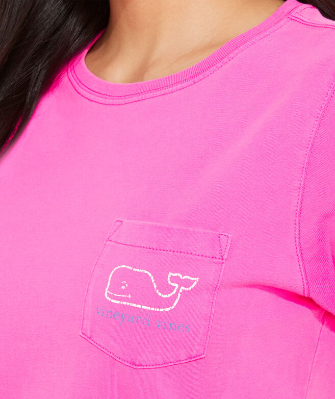 Two-Tone Vintage Whale Short-Sleeve Pocket Tee