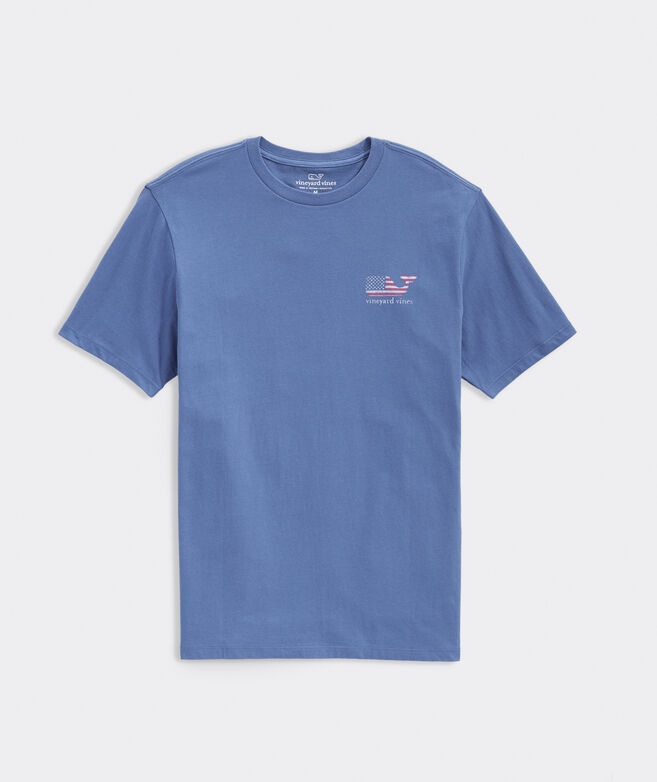 Faded Flag Whale Fill Short-Sleeve Tee