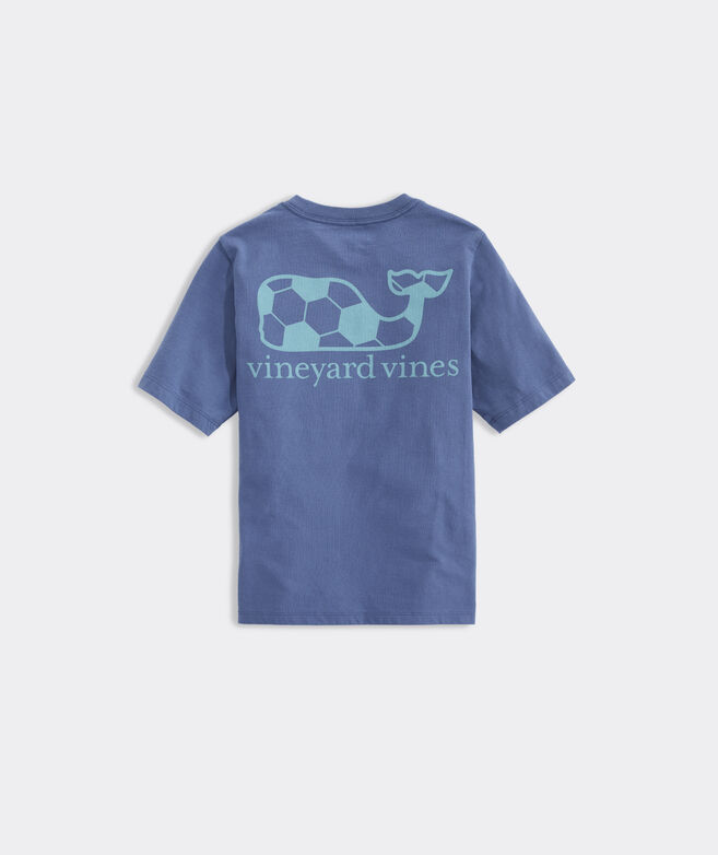 Kids' Soccer Ball Whale Short-Sleeve Pocket Tee
