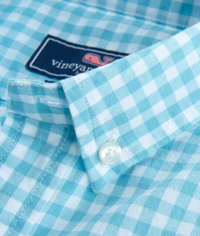 Boys Garden Quarter Gingham Whale Shirt