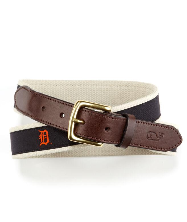 Detroit Tigers Canvas Club Belt