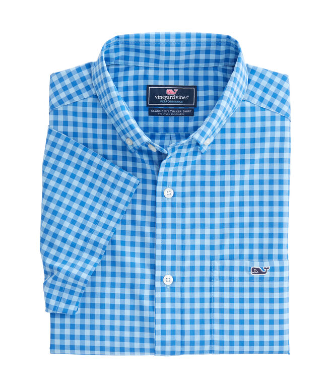 Short-Sleeve Cherokee Sound Plaid Classic Tucker Shirt