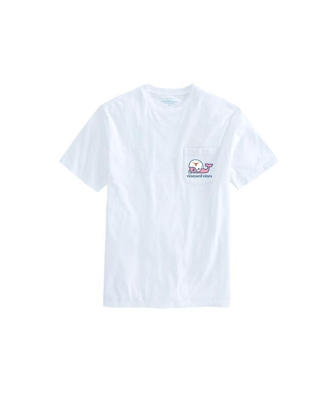 Texas Longhorns Whale Helmet T-Shirt