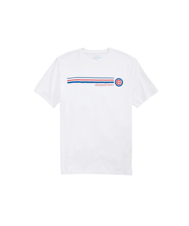 Chicago Cubs 3 Stripe T-Shirt