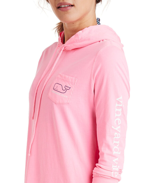 Long-Sleeve Whale Hoodie Cover-Up