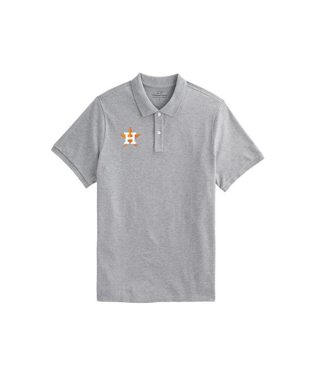 Houston Astros Stretch Pique Heathered Polo