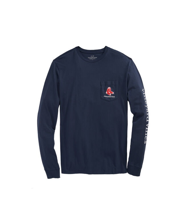 Boston Red Sox Long-Sleeve Stamp Pocket T-Shirt