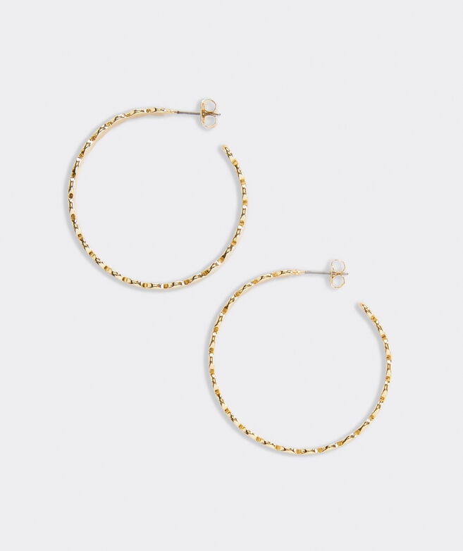 Gold Dot Hoop Earrings