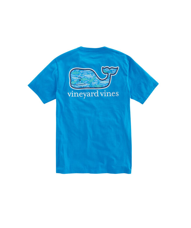 Shop fish scales whale fill pocket t shirt at vineyard vines for Vineyard vines fishing shirt