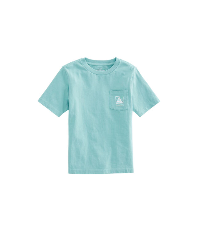 Boys Wood Block Sail Pocket T-Shirt