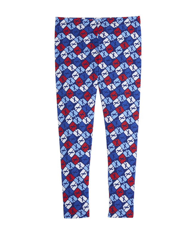 Girls Puzzle Whale All Day Leggings