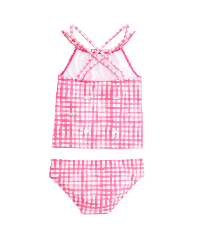 Girls Painted Gingham Tankini