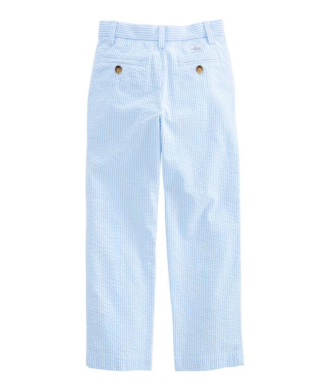 Boys Seersucker Stripe Breaker Pants