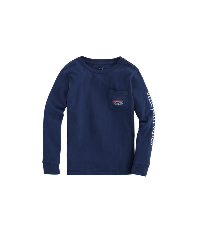 Boys Midline Hockey Long-Sleeve Pocket Tee