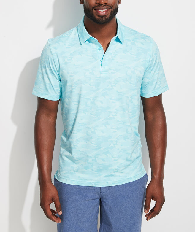 Heathered Camo Printed Sankaty Performance Polo