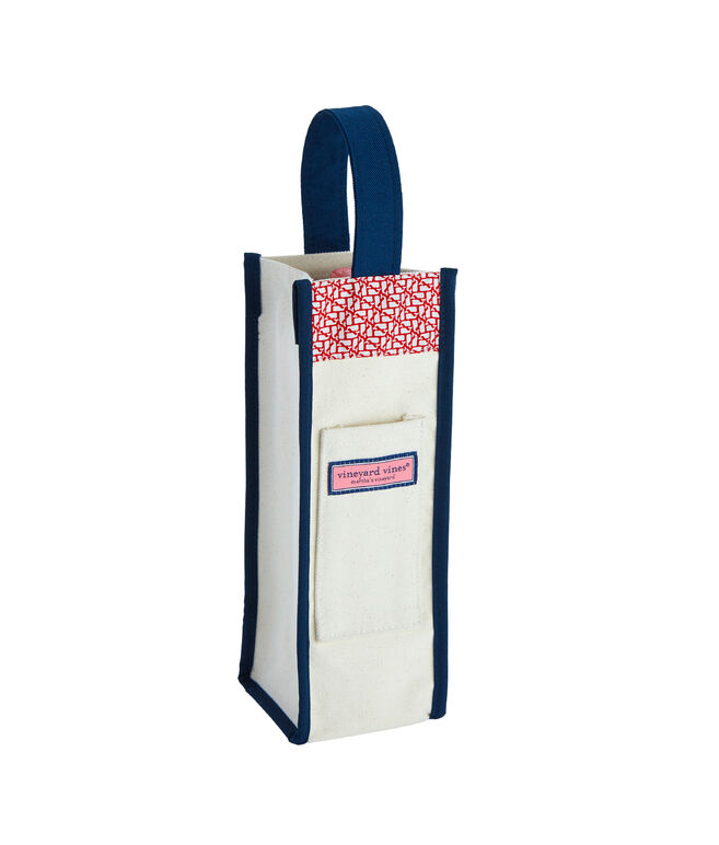 Outline Whale Wine Tote