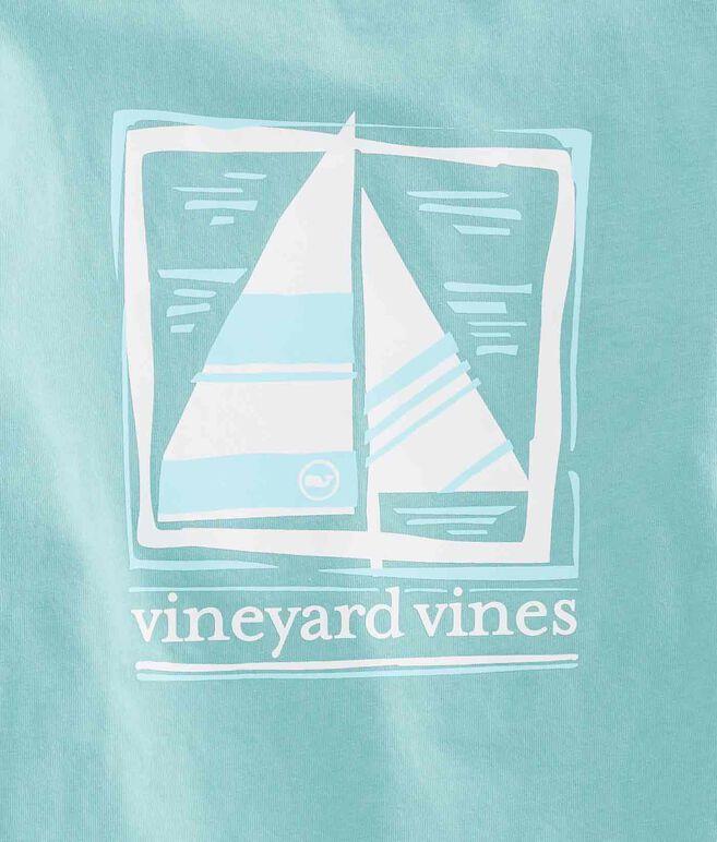 Boys Wood Block Sail Pocket T-Shirt