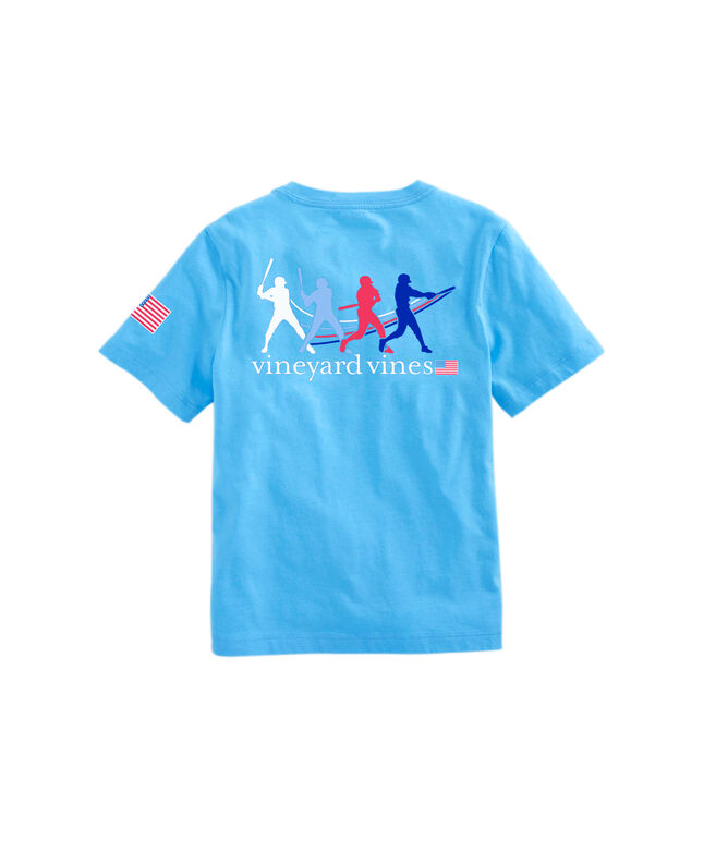 OUTLET Kids' Baseball Swing Short-Sleeve Pocket Tee
