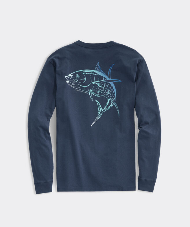 Ombre Tuna Long-Sleeve Pocket Tee