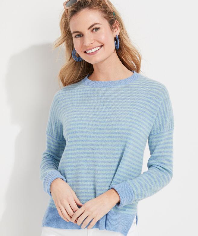 Ginny Stripe Lofty Cashmere Crewneck Sweater