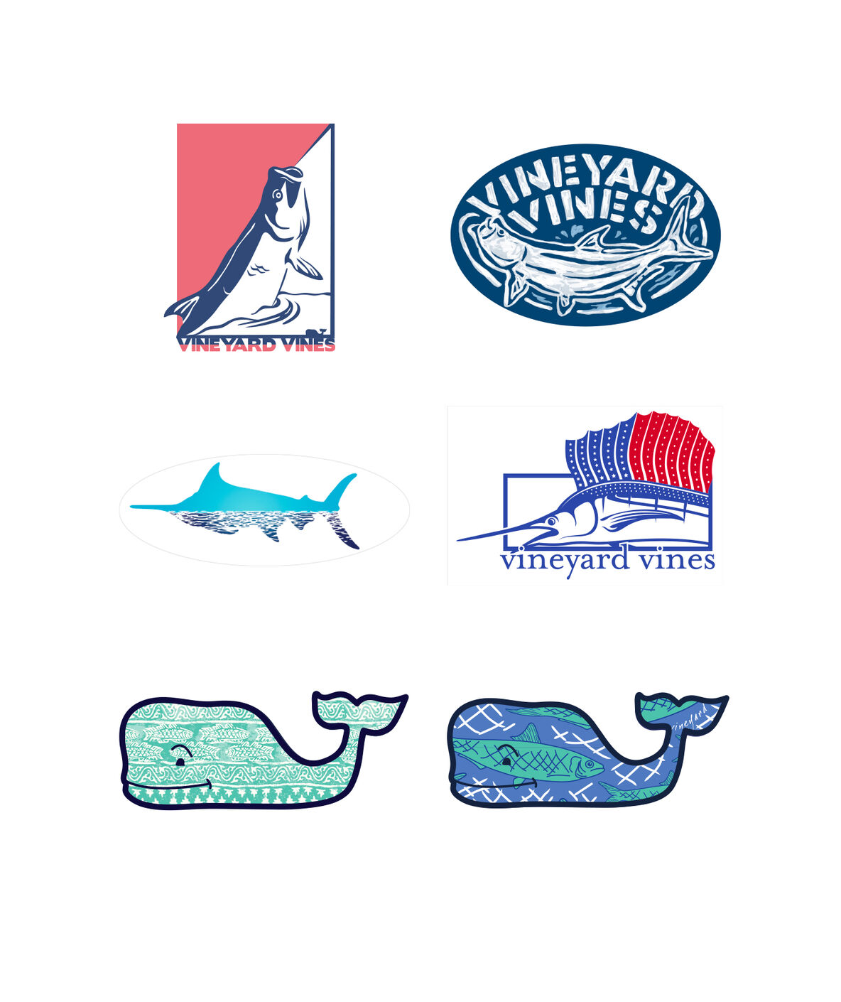 Shop Fishing Sticker Pack At Vineyard Vines