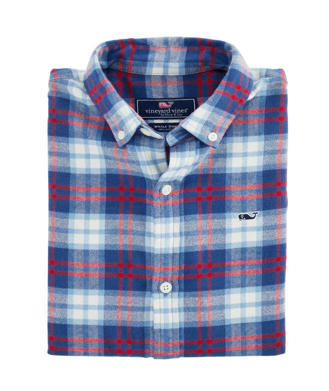 Boys Longshore Whale Button-Down Flannel Shirt