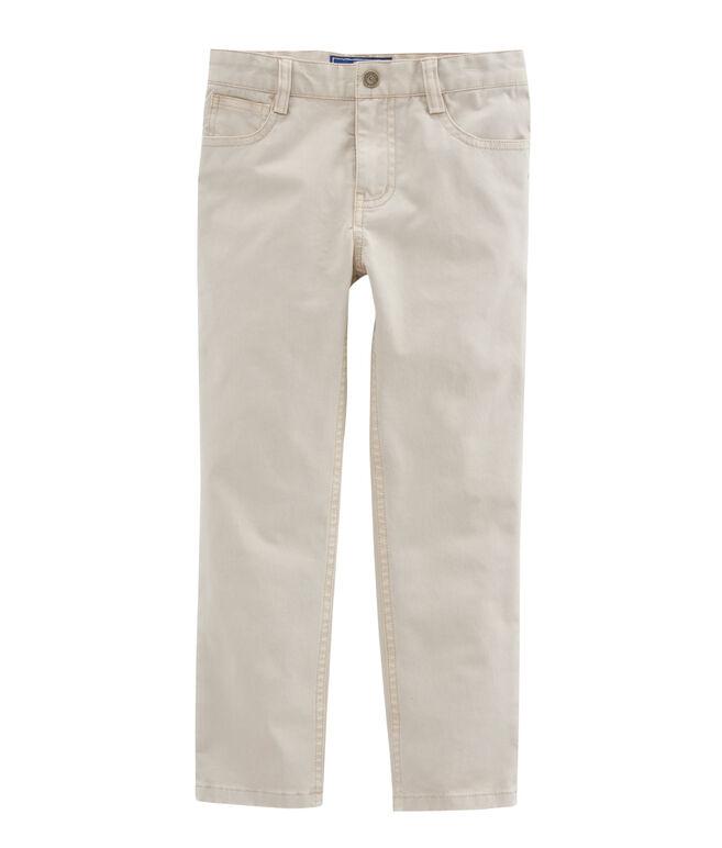 Boys Stretch Twill 5 Pocket Pants