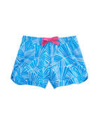 Girls Abstract Leaf Knit Pull-On Shorts