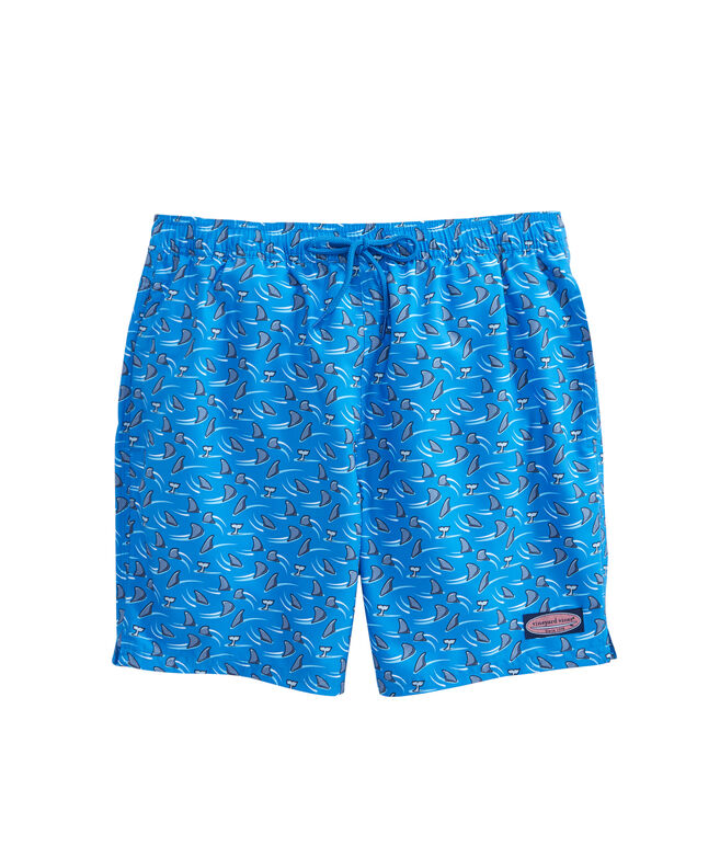 Mens Shark Week Circling Shark Chappy Trunks