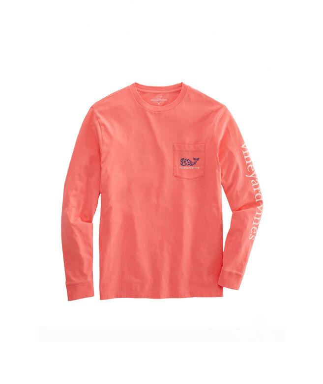 Crab Stamp Long-Sleeve Pocket T-Shirt