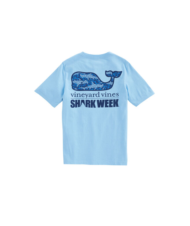 Boys Shark Camo Whale Fill Pocket T-Shirt