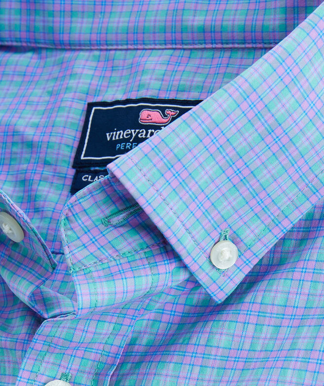 Classic Fit Plaid On-The-Go Performance Tucker Shirt