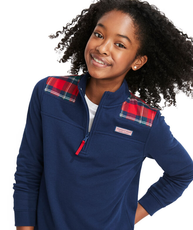 Girls Merry Plaid Relaxed Shep Shirt