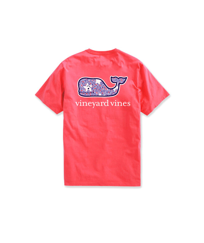 OUTLET Girls' Whale Stars Whale Fill Short-Sleeve Pocket Tee
