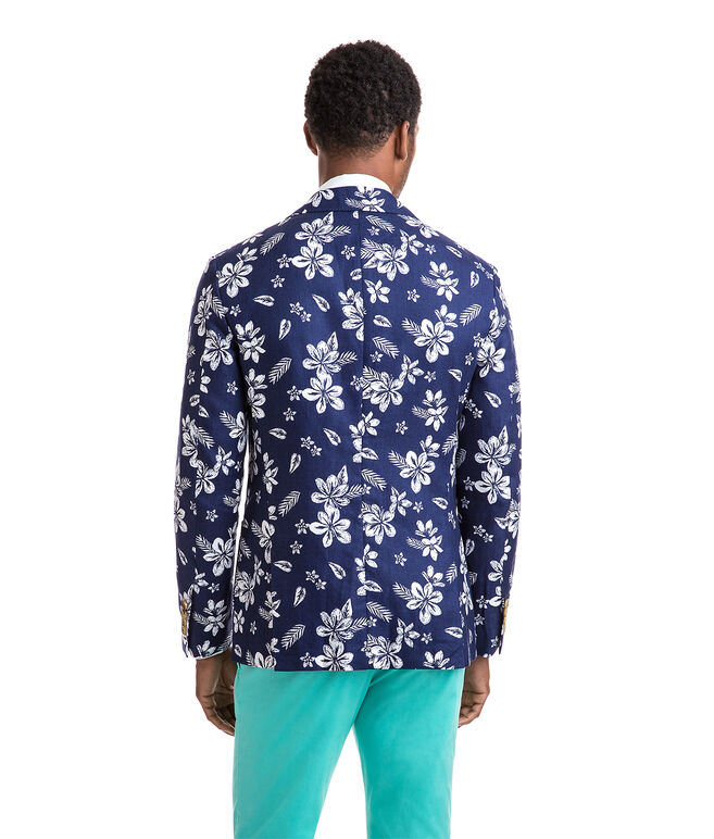 Floral Cotton/Linen Sport Coat