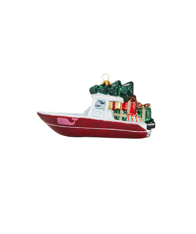 Boat & Tree Ornament