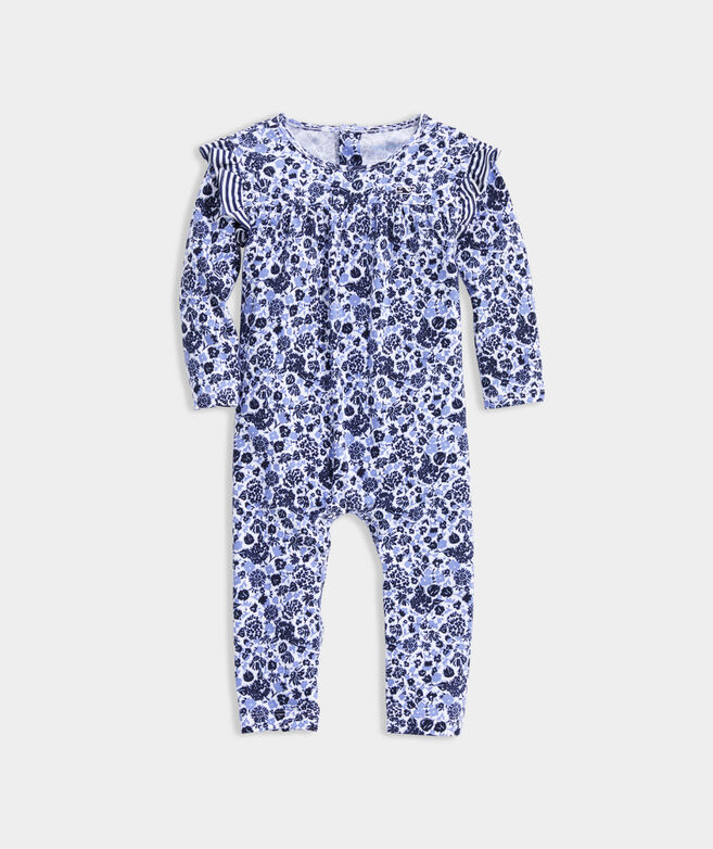 Baby Girl Among The Flowers Knit One-Piece