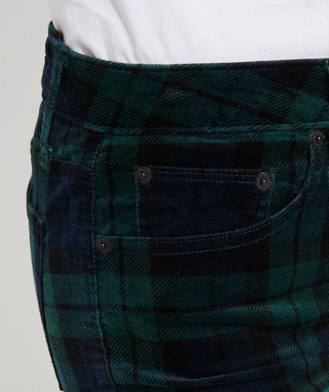 Jamie High-Rise Blackwatch Velveteen Jeans
