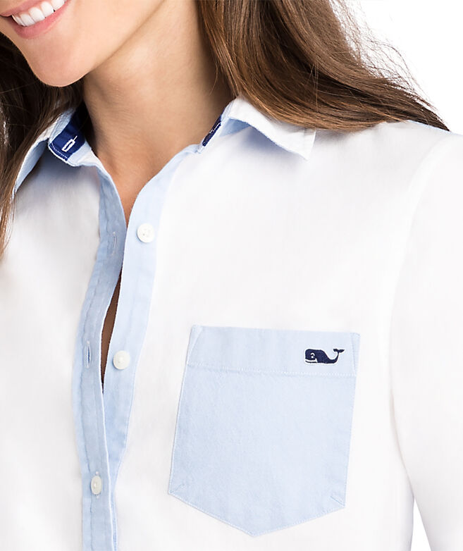 Color Blocked Chillmark Relaxed Oxford Button Down Shirt