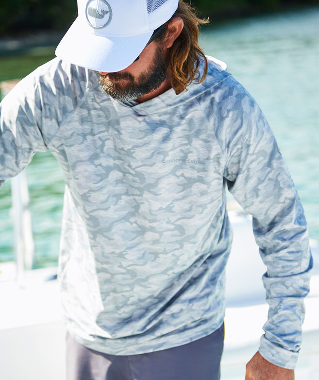 Camo Long-Sleeve Harbor Performance Hoodie