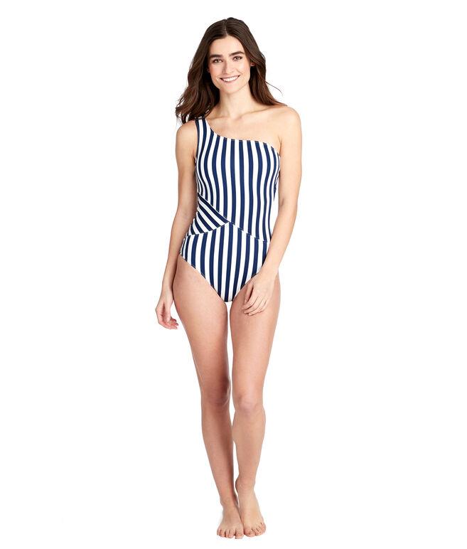 Favorite Stripe One Shoulder One-Piece