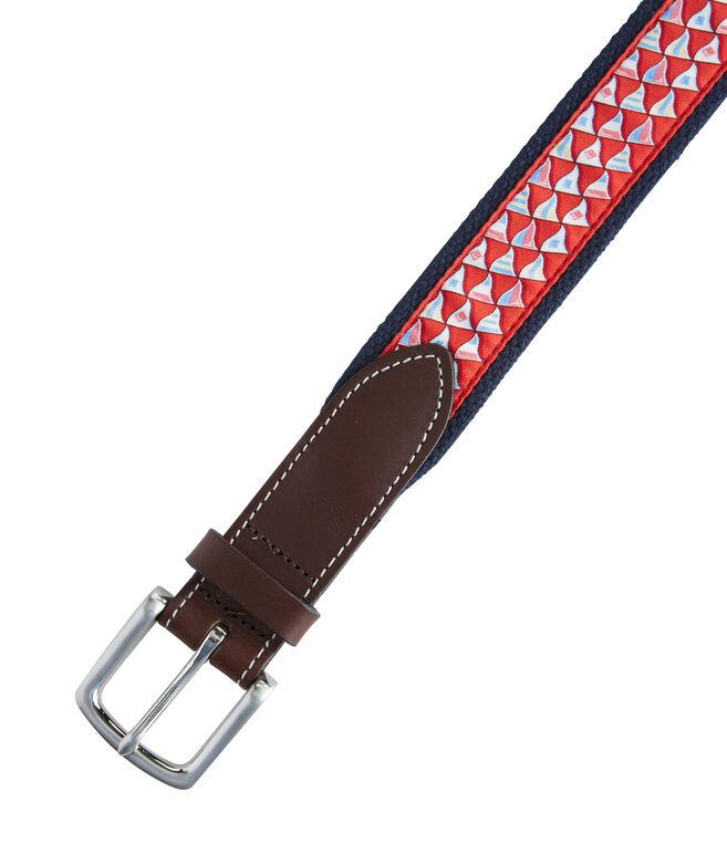 Nautical Flags Canvas Club Belt