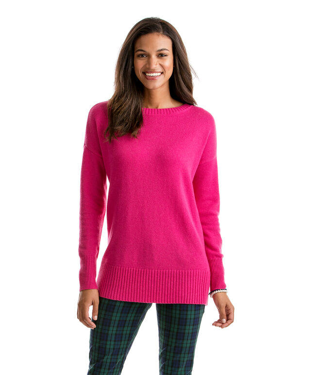 Split-Back Boatneck Sweater