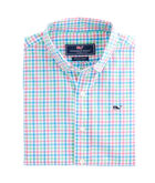 Boys Ginger Island Gingham Whale Shirt